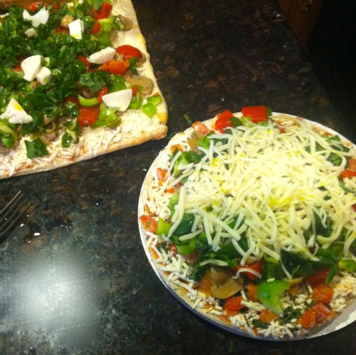 """the """"doctored up"""" pizza"""