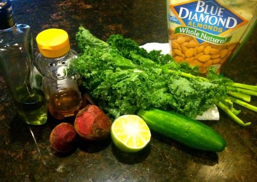 Sweet Beet Kale Salad Ingredients