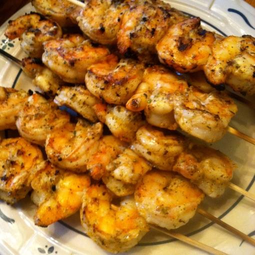 Grilled Lime Shrimp Skewers