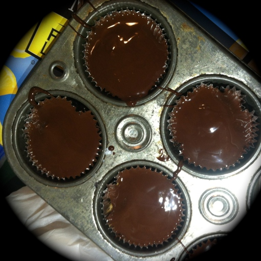 Dark Chocolate Almond Butter Cups---Journey for Jessi