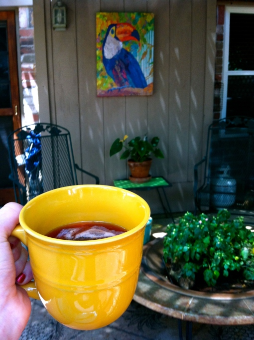 backyard tea--Journey for Jessi