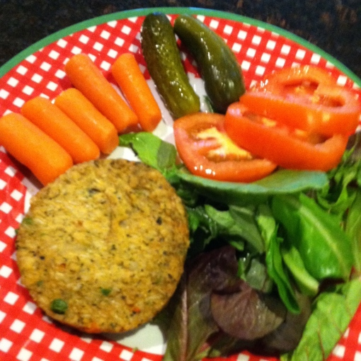 deconstructed veggie burger--Journey for Jessi
