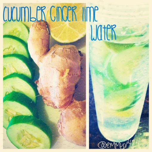 Cucumber Ginger Lime Infused Water--Journey for Jessi