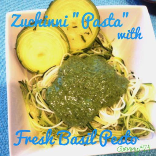 Zucchini Pasta with Pesto--Journey for Jessi