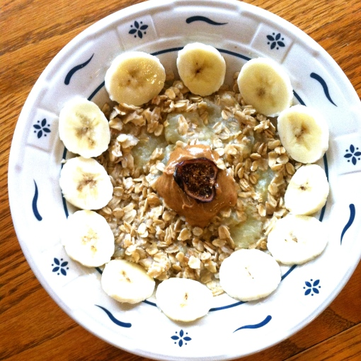 Almond Butter and Banana Oatmeal--Journey for Jessi