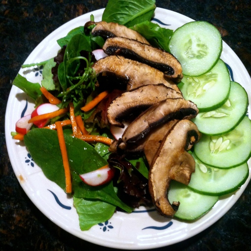 portobello mushroom salad--journey for jessi