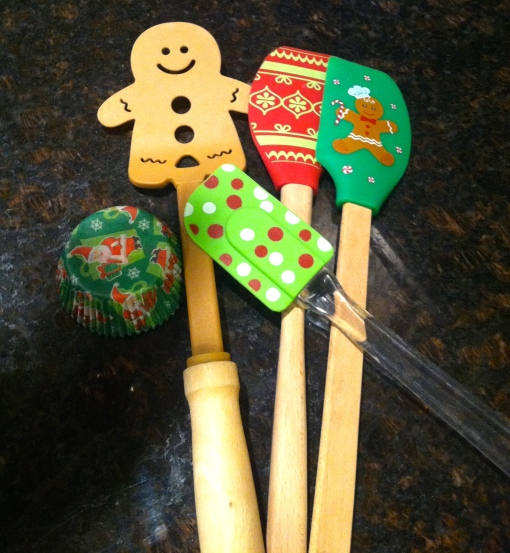 christmas spatulas