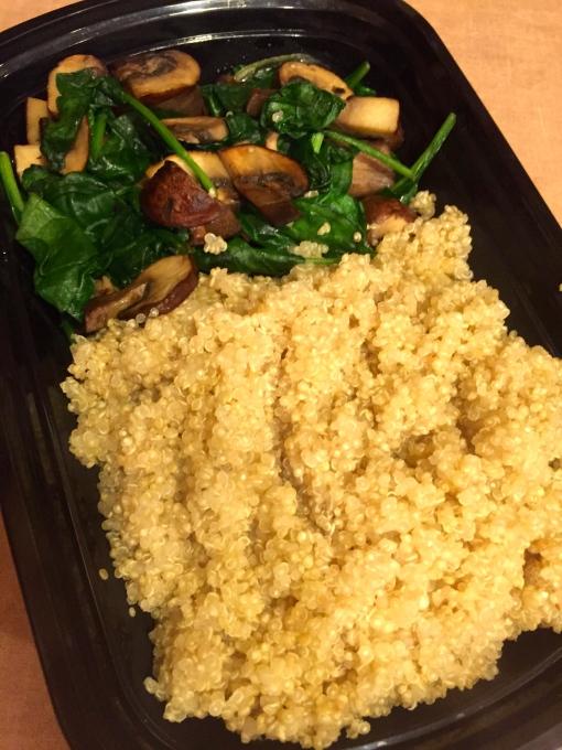 spinach mushroom quinoa || Journey for Jessi